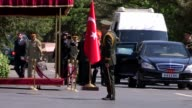 Chief of the General Staff of the Turkish Armed Forces Hulusi Akar meets his Pakistani counterpart Zubair Mahmood Hayat at Turkish General Staff...