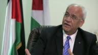 Chief Palestinian Negotiator Saeb Erekat saying that Israel is imposing an apartheid system