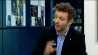 Michael Sheen interview ENGLAND London GIR INT Michael Sheen LIVE studio interview SOT