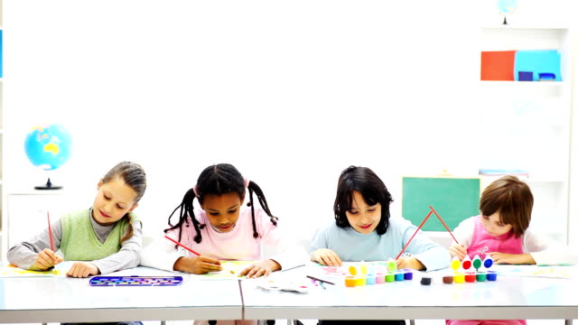 Children drawing .