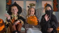 HD DOLLY: Children Dressed In Halloween Costumes