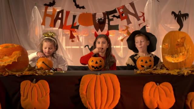 HD: Children Eating Halloween Candy