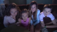 MS HA Children getting scared while watching TV  / Jacksonville, Florida, USA