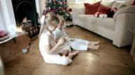 Children making a christmas wish