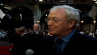 'Children of Men' film premiere Sir Michael Caine talking to press SOT I'd never done anything like this before / Talks about his character Jasper...