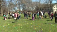 Children participate in Easter Egg Hunt in McKinley Park in Chicago on April 4 2015