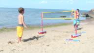 Children playing beach game