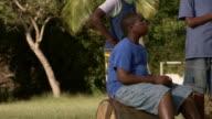 MS TD TU Children playing in greenfield / Brightown, Barbados