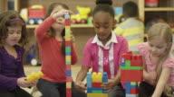 Children Playing in Preschool