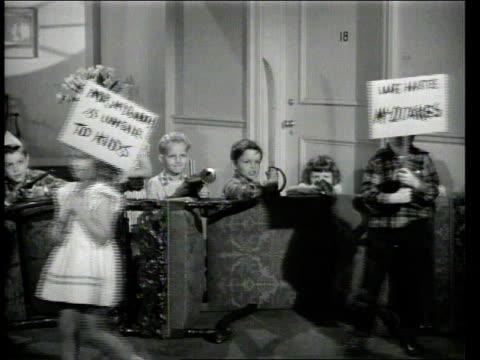 1947 MONTAGE children protesting