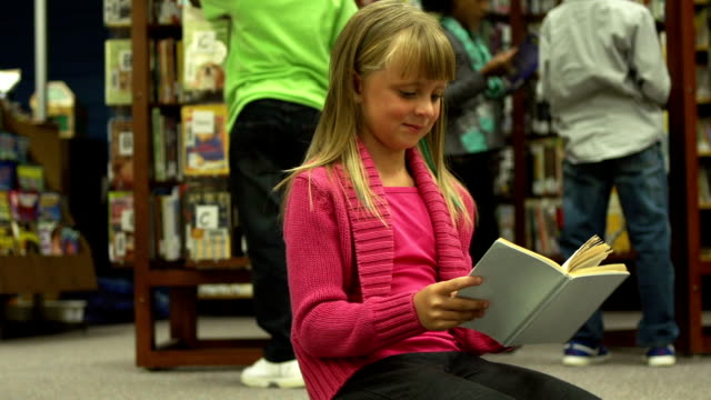Children reading in Library