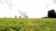Children Running Down the Hill