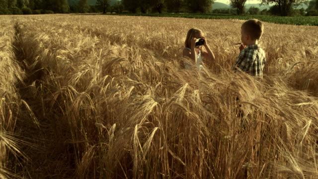 HD CRANE: Children Taking Pictures