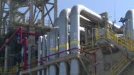 Chilean President Michelle Bachelet inaugurated a new on shore gas tank for the LNG regasification terminal in Mejillones operated by GDF Suez and...