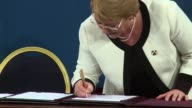 Chilean president Michelle Bachelet signed and sent to congress a bill that aims to reform a very criticized pension system which was inherited by...