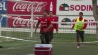 Chile's football team train ahead of their 2015 Copa America final against Argentina