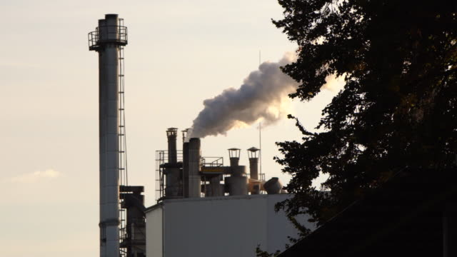 Chimney air pollution