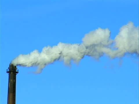 Chimney emitting into the atmosphere, Progressive frames