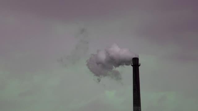 Chimney smoke pollution