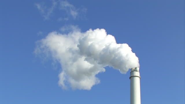Chimney with smoke - Power plant