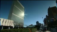 China and Russia urged to take 'direct action' after North Korean missile launch over Japan USA New York EXT United Nations building