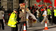 protests outside Chinese Embassy ENGLAND London Chinese Embassy EXT Police officers grappling 'Free Tibet' demonstrator to ground outside Chinese...