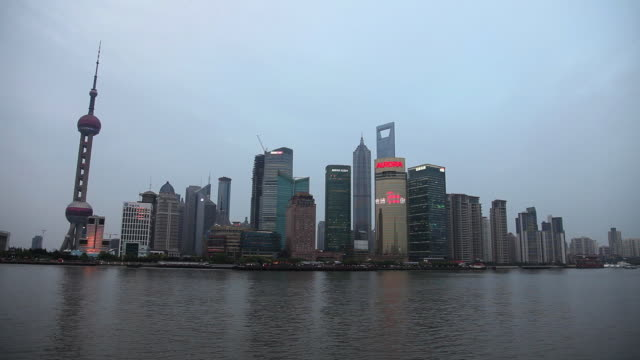 China, shanghai, pudong skyline