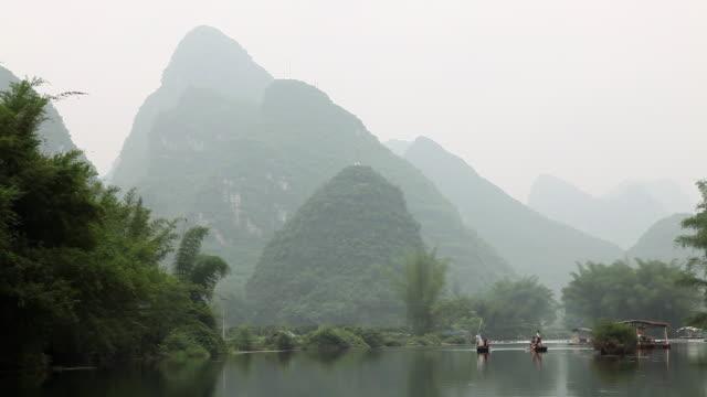 China, yangshuo, yulong river and karst peaks