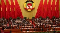 China's leaders attend the opening session of the Chinese People's Political Consultative Conference at Great Hall of the People on March 3 2013 in...