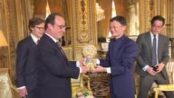 Chinese billionaire and founder of e commerce powerhouse Alibaba Group Jack Ma was received at the Elysee Palace by President Francois Hollande...
