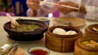 Chinese breakfast on table