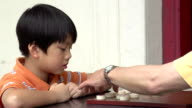 Chinese Chess Grandfather and Grandson