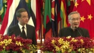 Chinese Foreign Minister Wang Yi visits Thailand and holds a press conference with Thai counterpart Don Pramudwinai