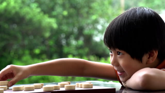 Chinese Kid Playing Slow Motion