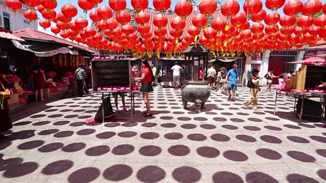 Chinese lantern hang outside temple