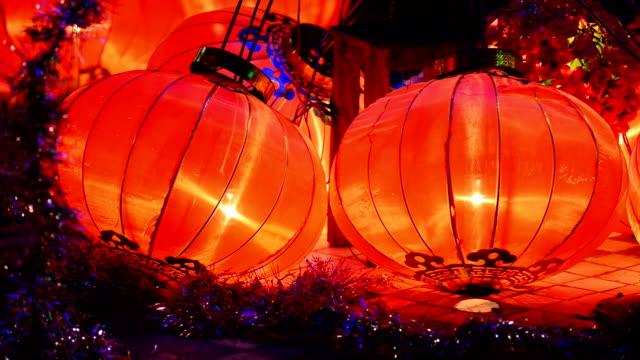 Chinese lantaarns is Chinees Nieuwjaar, de lamp van Chinees Nieuwjaar