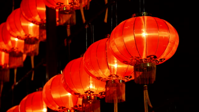 new year lantern stock footage getty images - Chinese New Year Lanterns