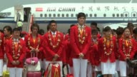 Chinese Olympic gold medalwinning athletes start a three day visit to Hong Kong Hong Kong China