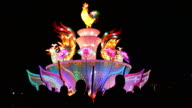 Chinese people visits a lantern show for the Chinese Lantern Festival on February 11 2017 in Zhangjiakou China China celebrates the traditional...