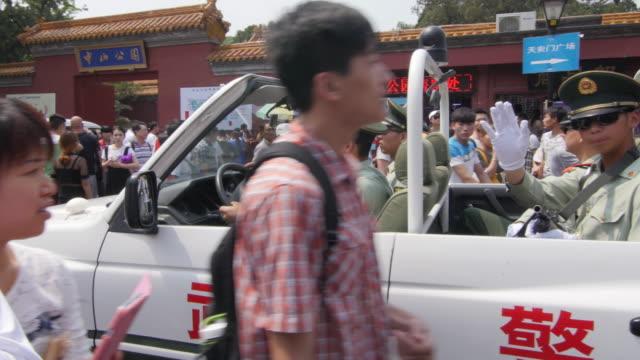 Chinese police patroling in Beijing, China
