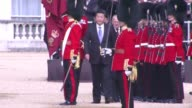 Chinese President Xi Jinping is welcomed by a horse guards parade in London as he begins for a four day state visit where the government of Prime...