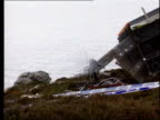 Chinook crash investigation allegation LIB Mull of Kintyre Site of Chinook helicopter crash GVs Wreckage