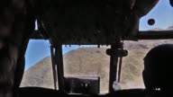 Chinook helicopters door gunner provide essential air support for operations in Afghanistan