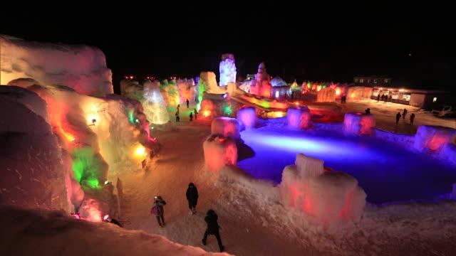 Chitose Lake Shikotsu Ice Festival,Hokkaido,Japan
