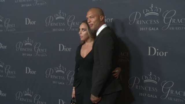 Chloe Green and Jeremy Meeks at 2017 Princess Grace Awards Gala With Presenting Sponsor Christian Dior Couture at The Beverly Hilton Hotel on October...