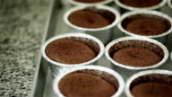 Chocolate cupcake in container