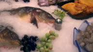 choice of fish in a supermarket