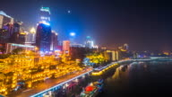 Chongqing, China urban cityscape at night.