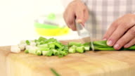 Chopping Spring Onions