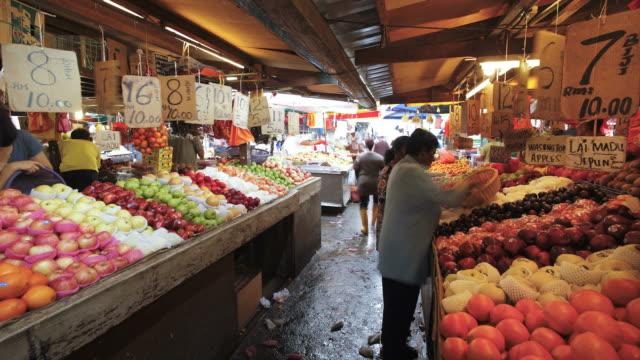 Chow Kit fruit and vegetable market, Kuala Lumpur, Malaysia,